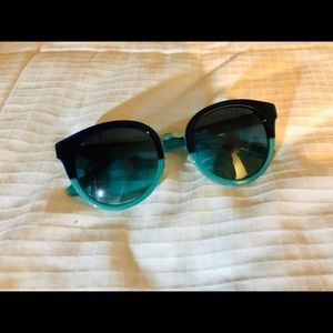 Tory Burch sunglasses - teal and navy